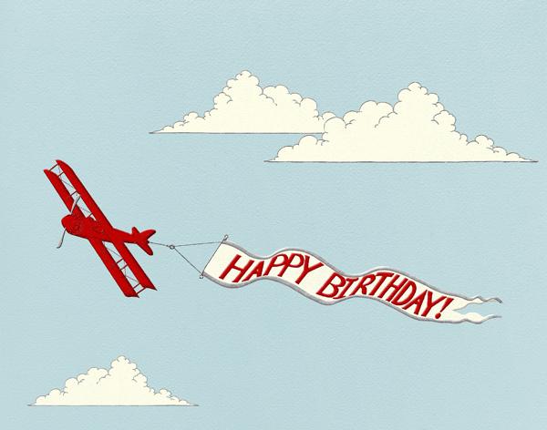 Birthday Biplane - Paperless Post - Birthday
