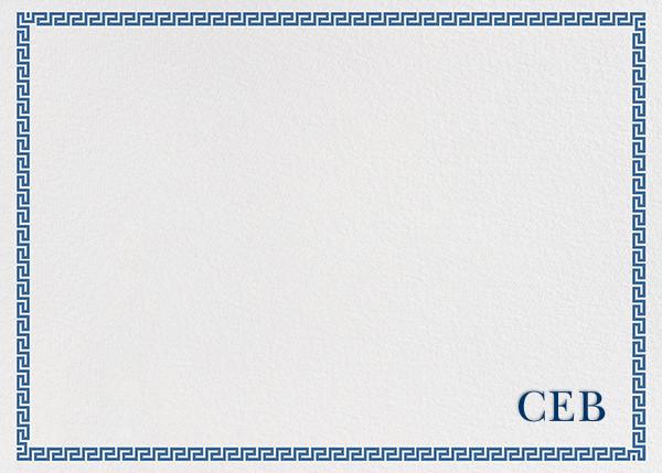 Greek Border Monogram - Blue - Jonathan Adler