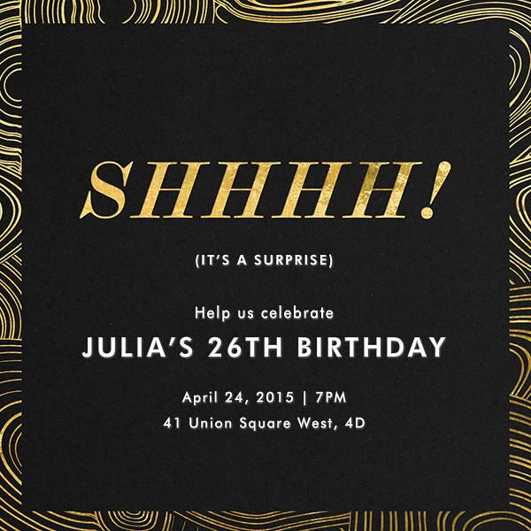 Malachite (Invitation) - Surprise - Jonathan Adler - Adult birthday