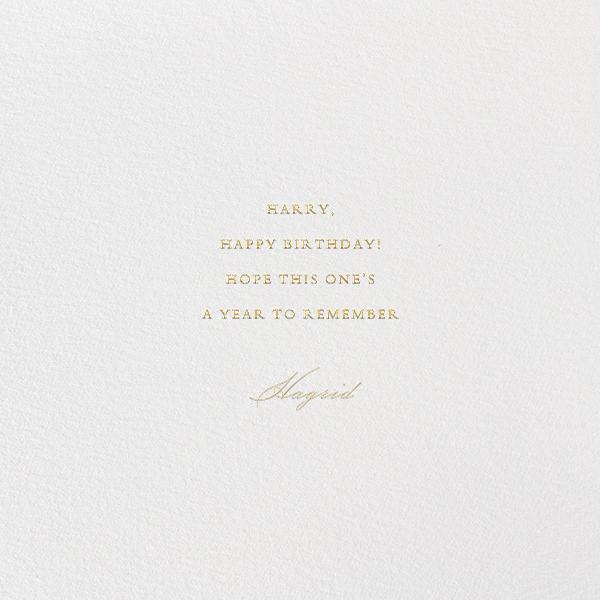 Flourished Hooray - Bernard Maisner - Birthday - card back
