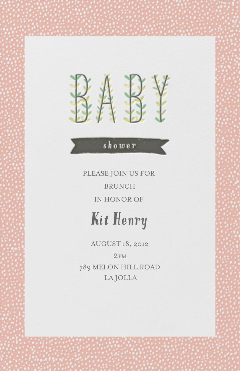 Blooming Baby - Guava - Mr. Boddington's Studio - Baby shower