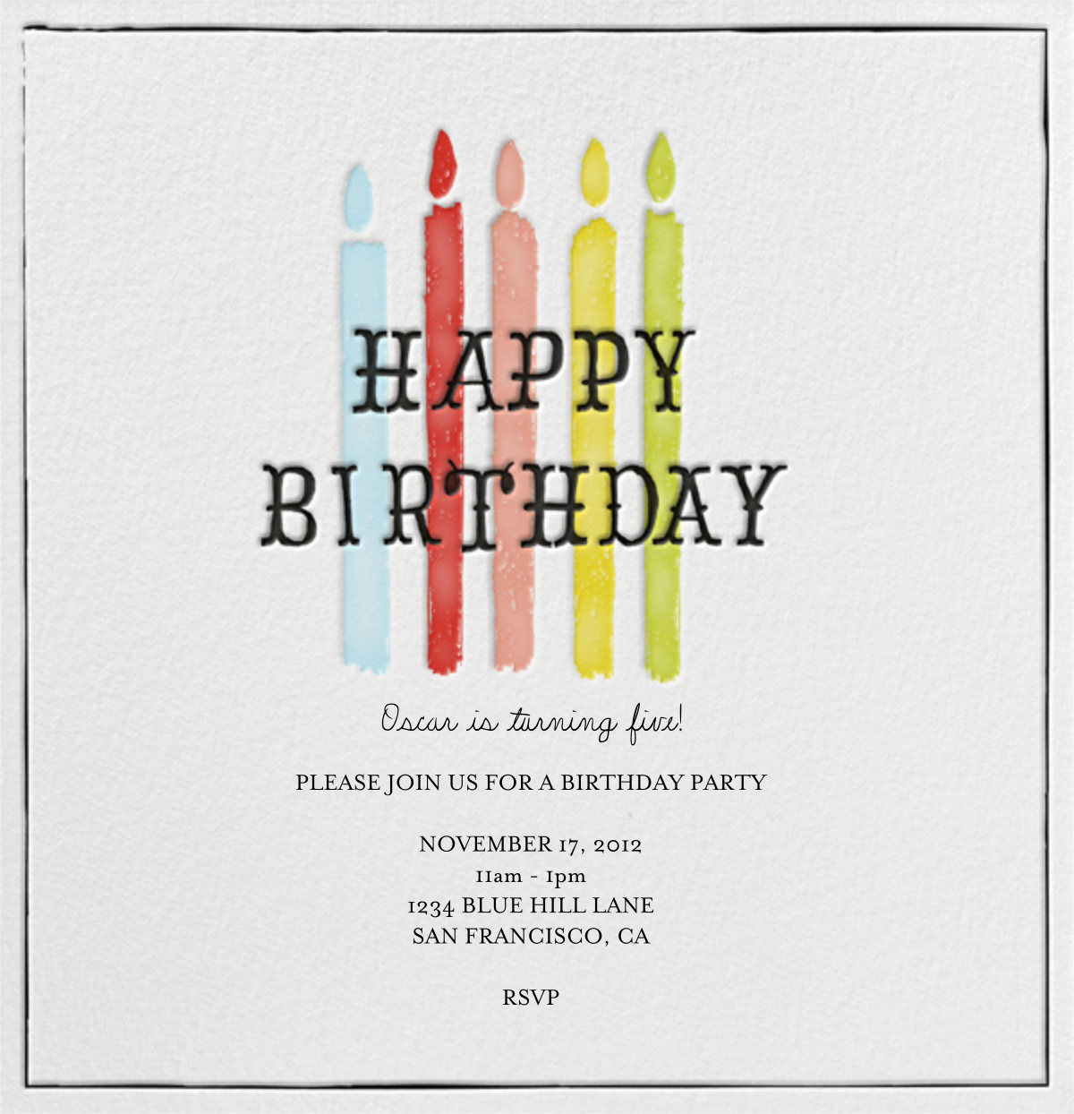 Blow Out the Candles - Five - Mr. Boddington's Studio - Kids' birthday