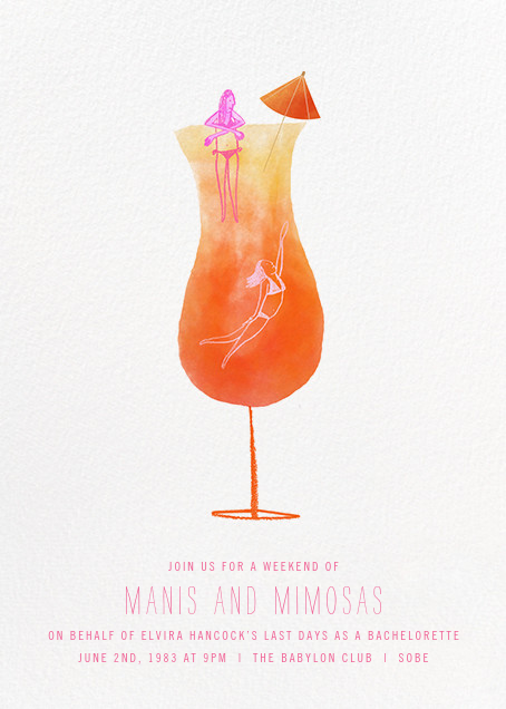 Tequila Sunrise - Paperless Post - Bachelorette party