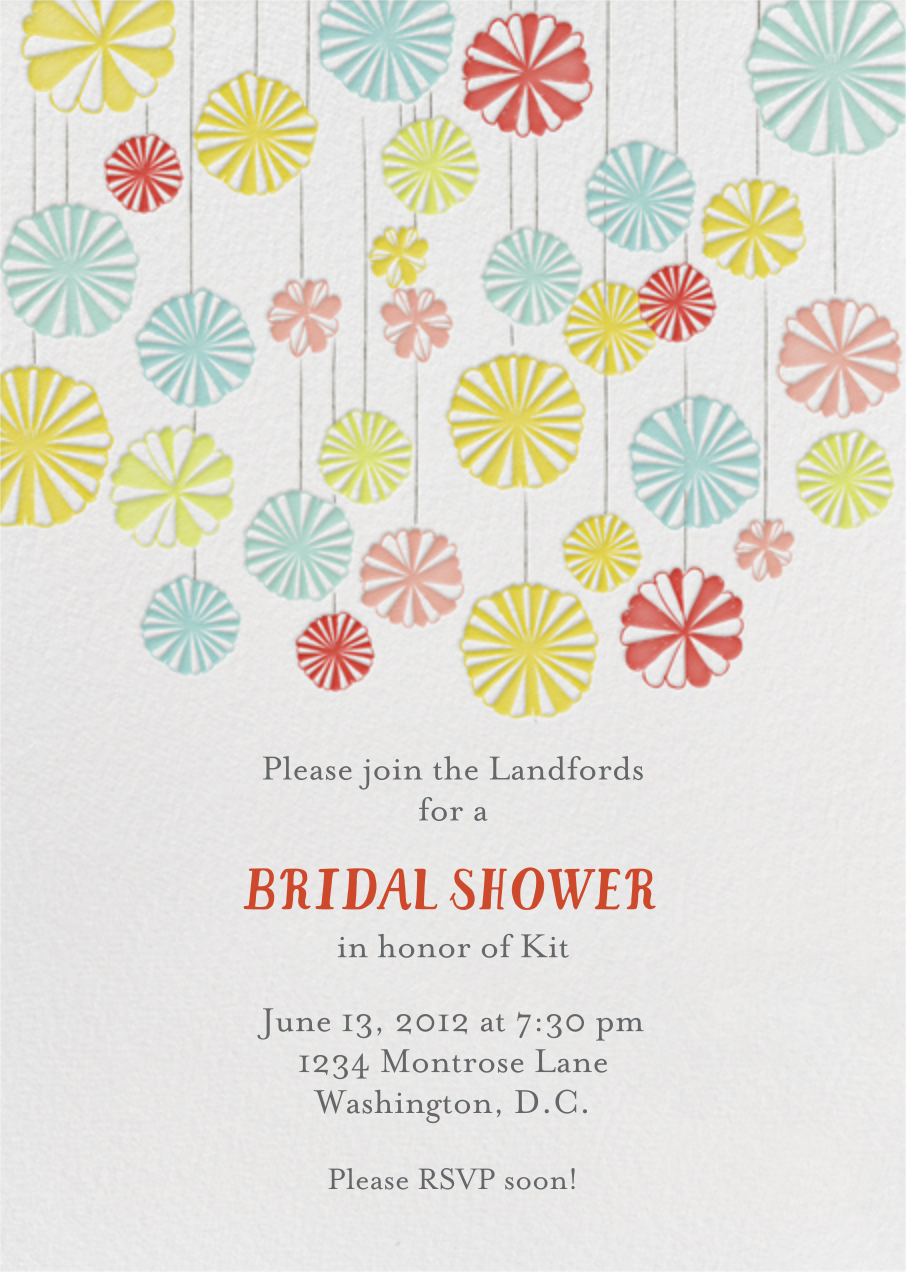 Mr. Porter's Ribbons - Brights - Mr. Boddington's Studio - Bridal shower