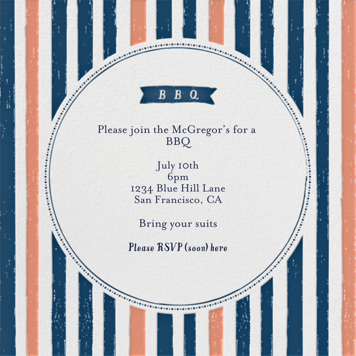 I'll Take Two Burgers - Coral - Mr. Boddington's Studio - Barbecue