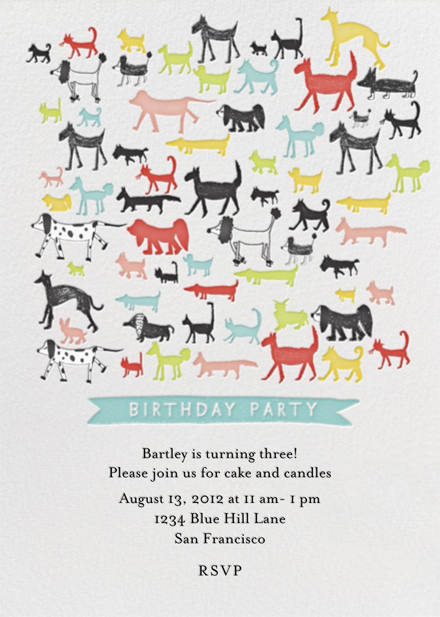 Calling all Dogs - Sri Lanka - Mr. Boddington's Studio - Kids' Birthday Invitations