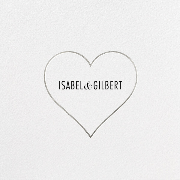 Heart Line - Silver - Paperless Post - Save the date