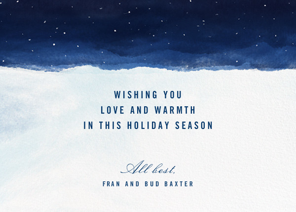 Lifted Spirits - Holidays - Paperless Post - Holiday cards - card back
