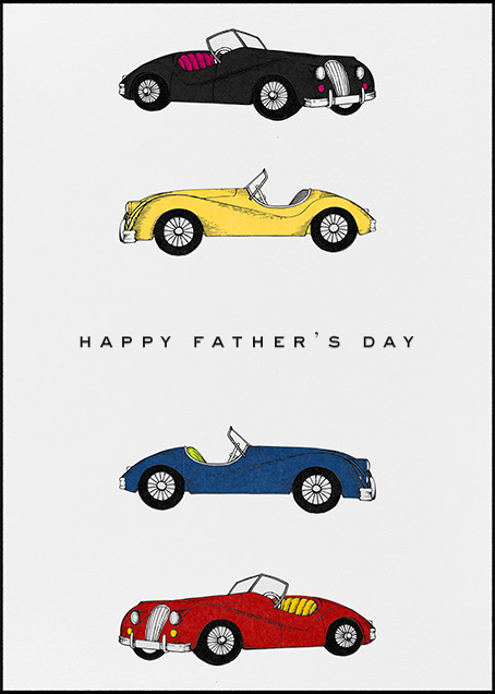 Classic Roadsters - White - Paperless Post - Father's Day