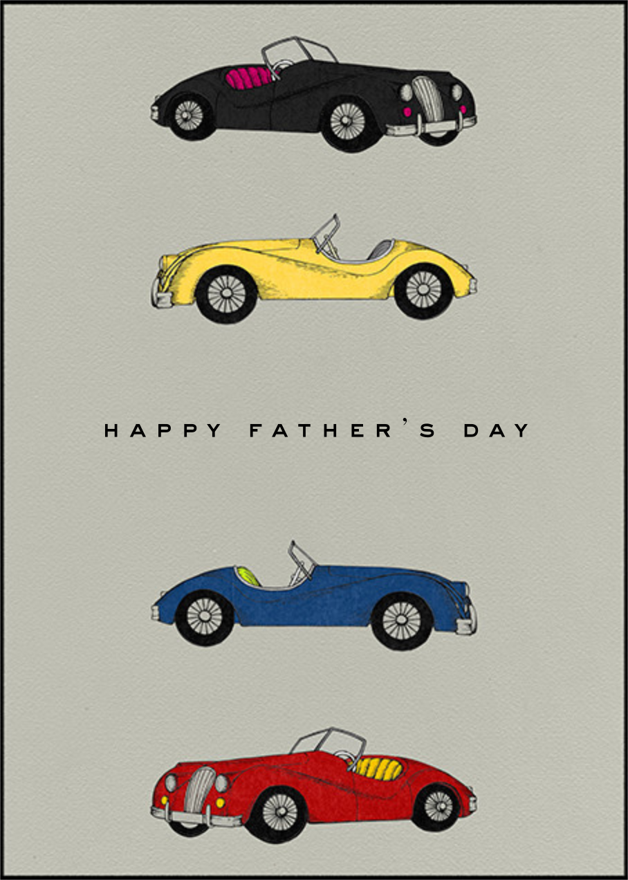 Classic Roadsters - Grey - Paperless Post - Father's Day