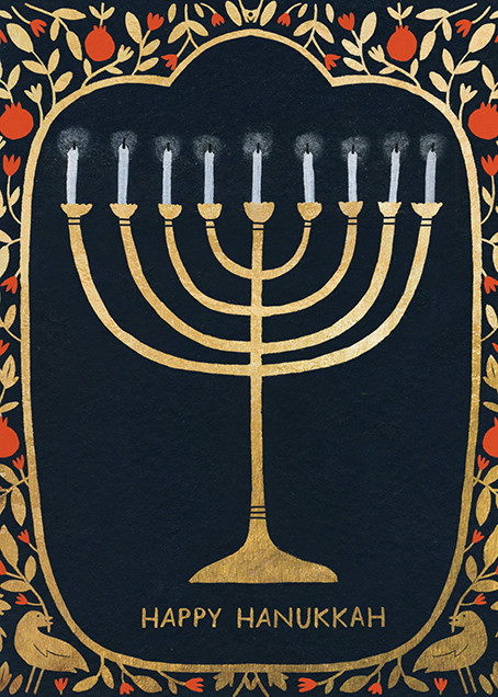 Hanukkah Gold (Yelena Bryksenkova) - Red Cap Cards - Hanukkah