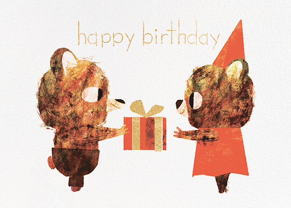 Two Bears Birthday (Chris Sasaki) - Red Cap Cards - Birthday