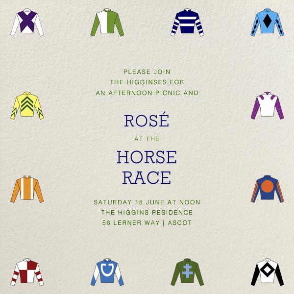 Racing Silks - Paperless Post - Sports