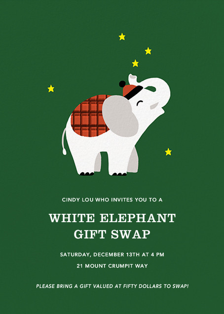 Little White Elephant - Paperless Post - Holiday Favorites