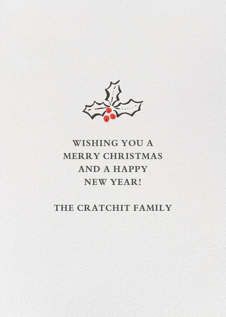 Holly Jolly Christmas - Hello!Lucky - Christmas - card back