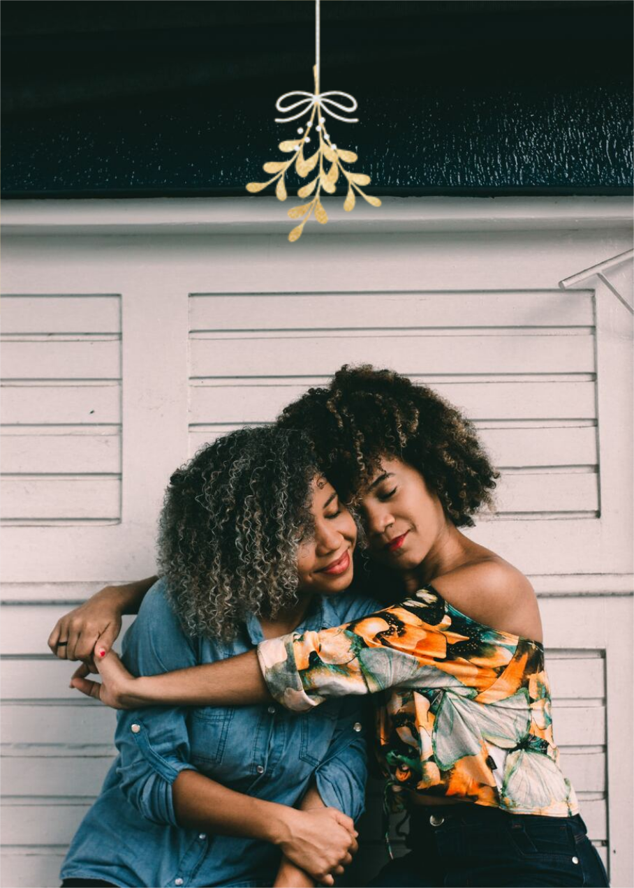 Mistletoe Kiss - Gold - Paperless Post - Holiday cards
