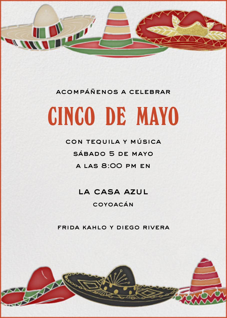Six Sombreros - Paperless Post - Cinco de Mayo