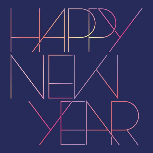 Happy Neon Year - Paperless Post - New Year
