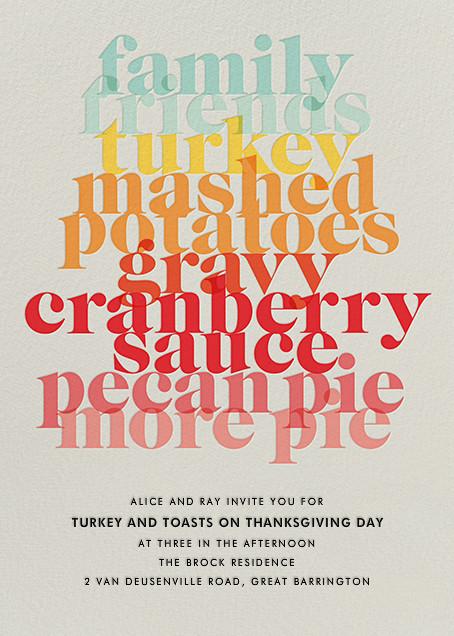 Thanksgiving Essentials - Paperless Post - Thanksgiving