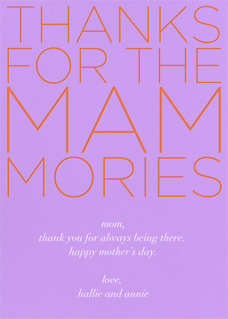 Mammories - Paperless Post - Mother's Day