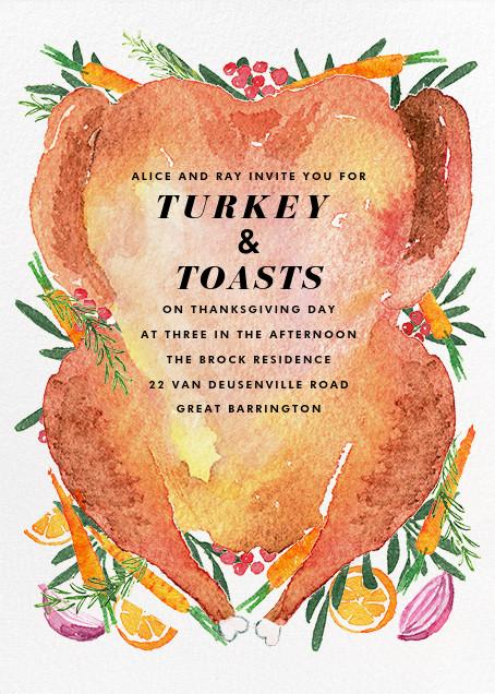 Golden Brown - Paperless Post - Thanksgiving