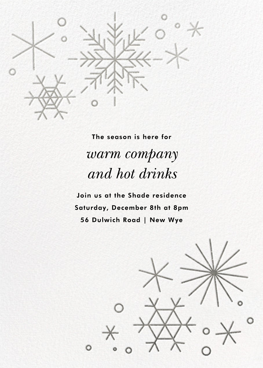 No Two Alike - Silver - Paperless Post - Company holiday party