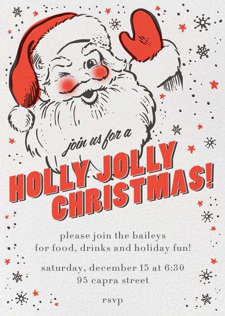 Holly Jolly Invitation - Hello!Lucky - Christmas party