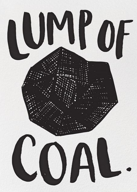 Lump of Coal - Hello!Lucky - Holiday cards