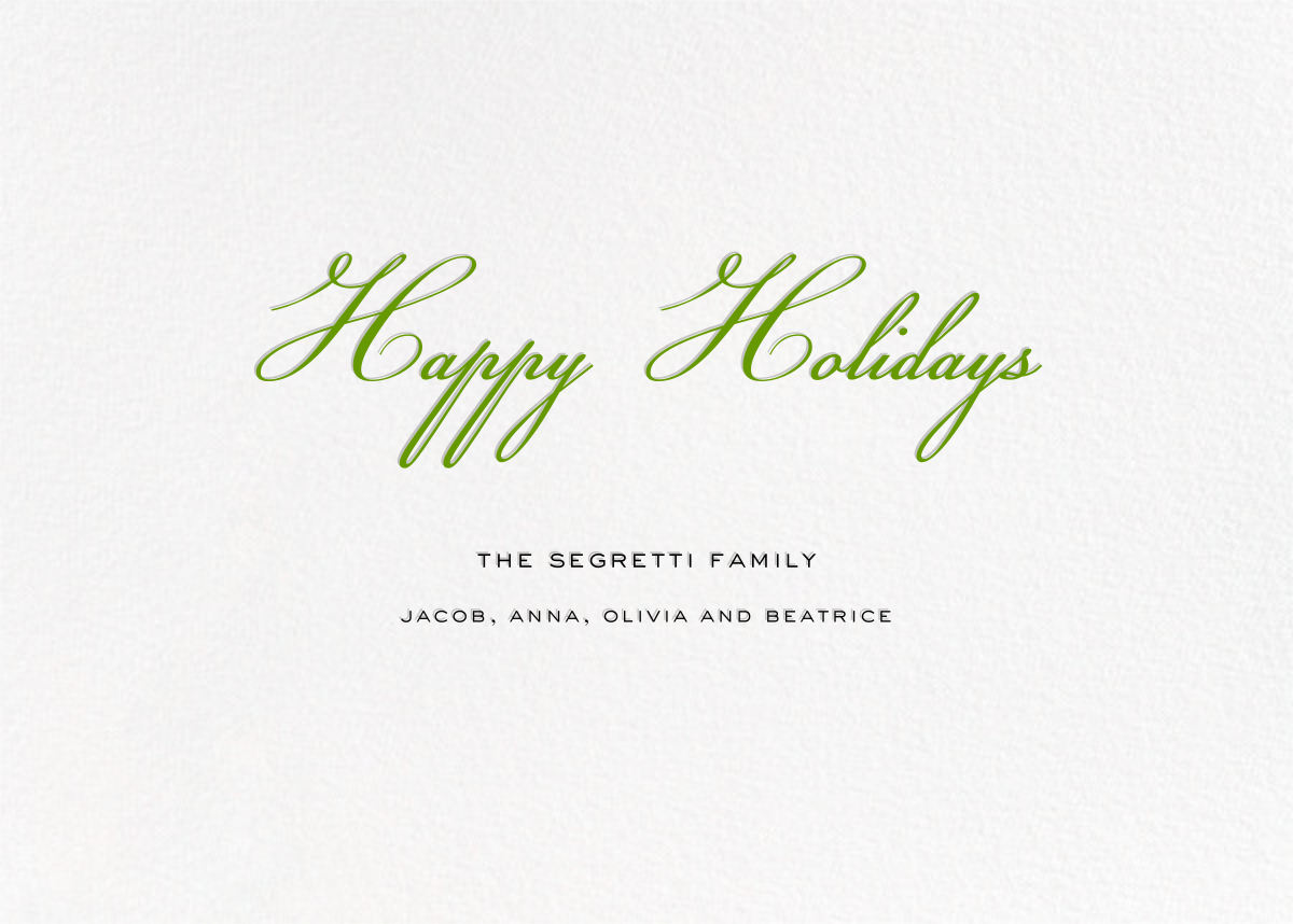 Confetti Branches (Horizontal Photo) - kate spade new york - Holiday cards - card back