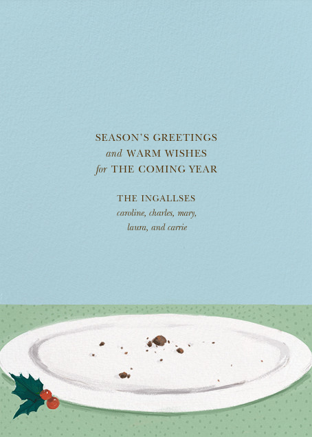 Mount Pudding (Greeting) - Paperless Post - Christmas - card back