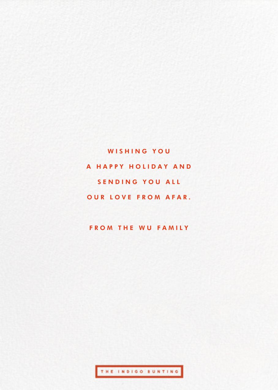 Ho Ho Ho Photo - The Indigo Bunting - Christmas - card back