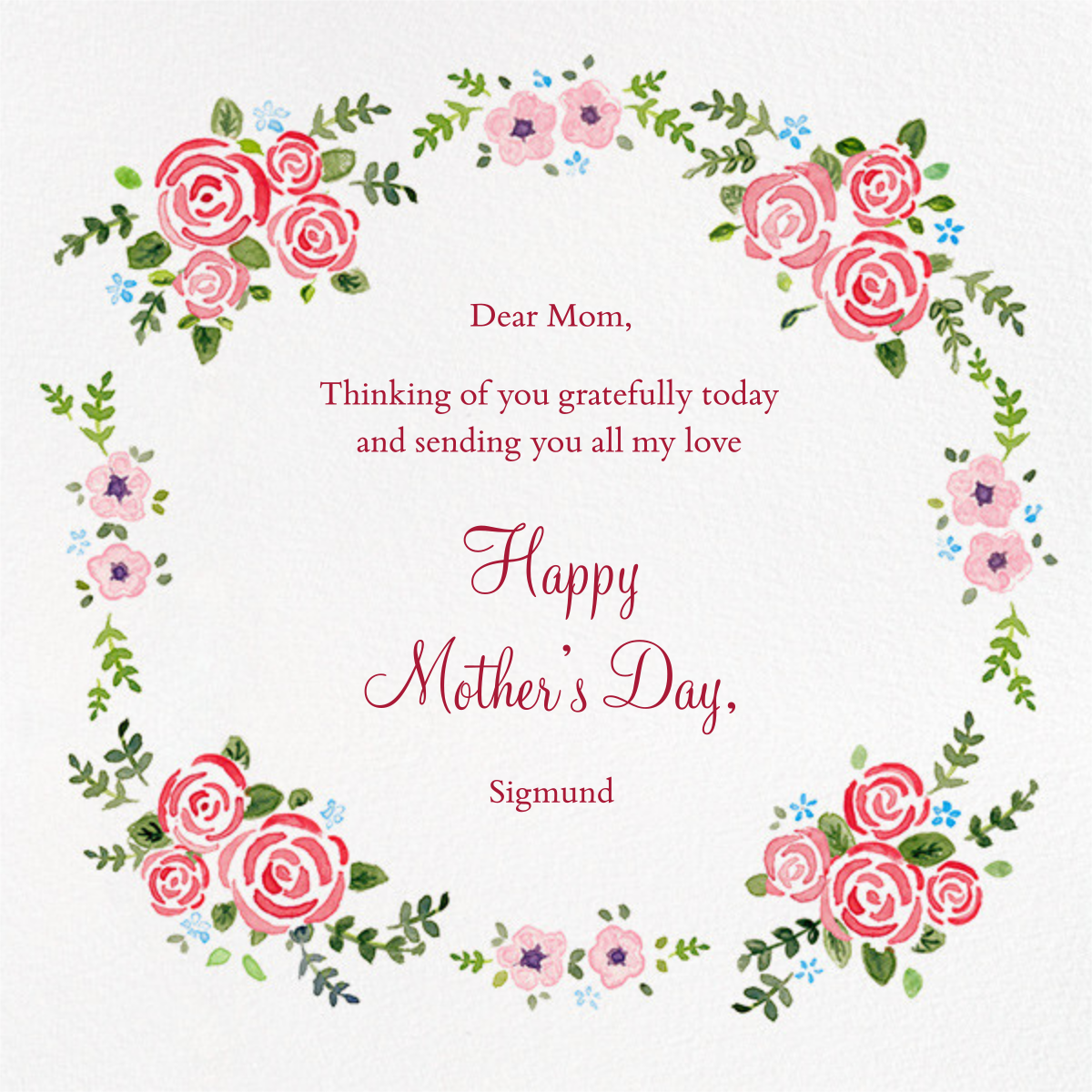 Rose Garland - Paperless Post - Mother's Day