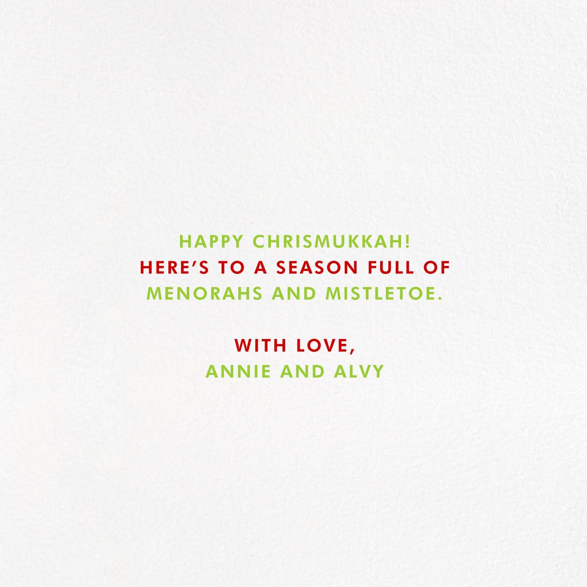 O Spinnenbaum - Paperless Post - Hanukkah - card back