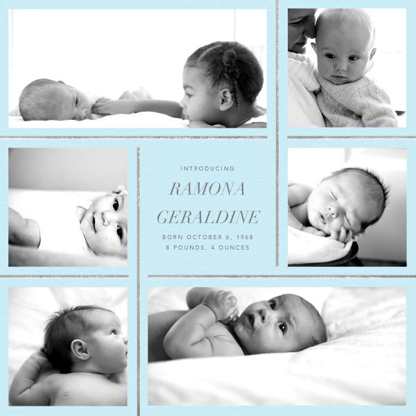 Whitework - Glacier - Paperless Post - Birth