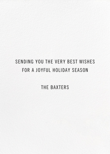 Beacon of Cheer - Gold - Paperless Post - Holiday cards - card back