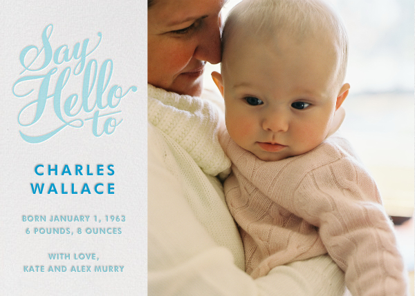 Say Hello to... Baby Gear (Photo) - Blue - Paperless Post - Birth
