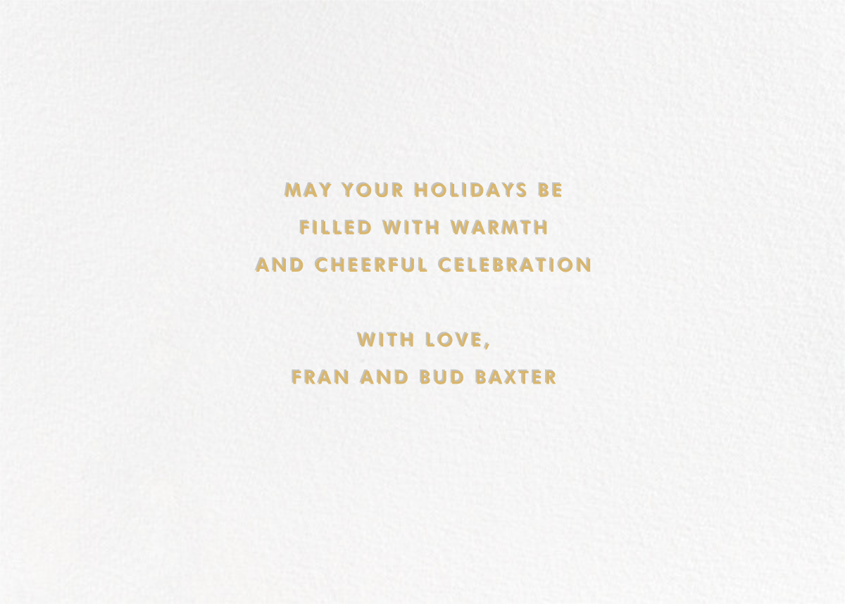 More Fun It Is - Gold - Paperless Post - Holiday cards - card back