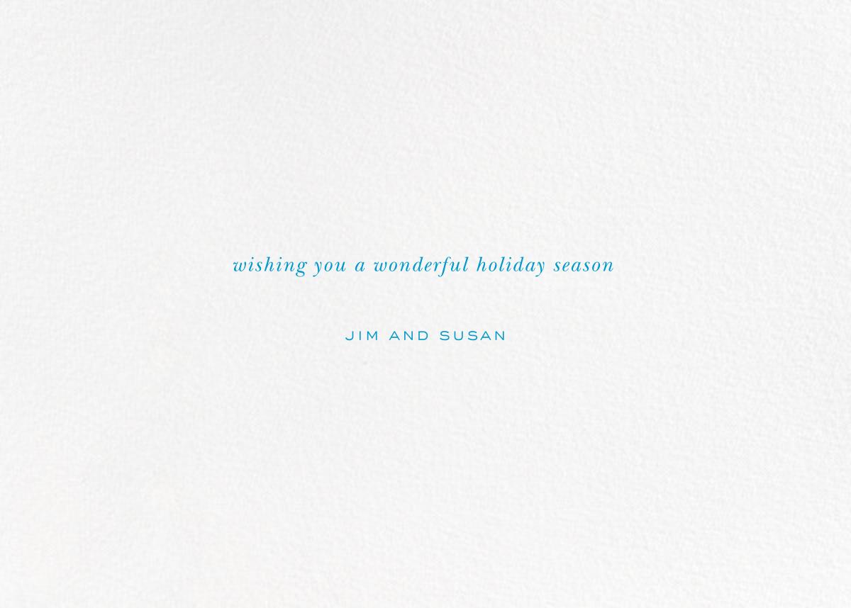 Holiday Baronial - kate spade new york - Company holiday cards - card back