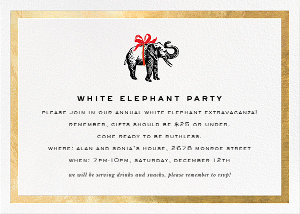 Wrapped Elephant - Gold - kate spade new york - Holiday party
