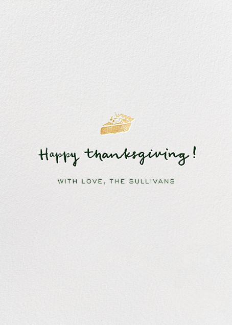Thanksgiving To-Do - kate spade new york - Thanksgiving - card back