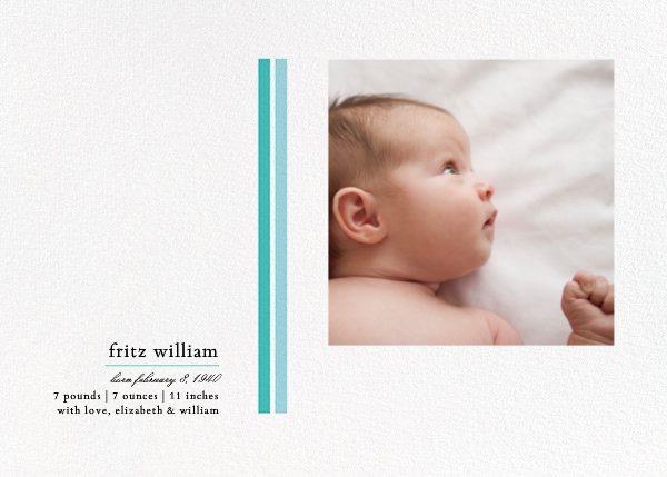 French Seam - Blue - Paperless Post - Birth
