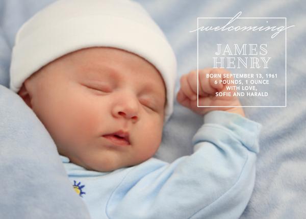 Welcome Window - White - Paperless Post - Birth