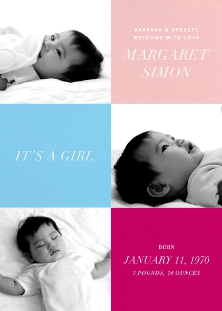 Baby Blocks Girl - Paperless Post - Birth