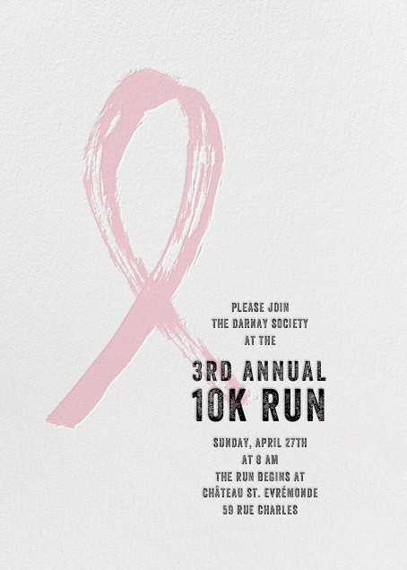 Brushstroke Ribbon - Pink - Paperless Post - Charity and fundraiser