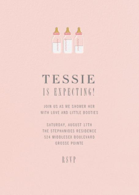 Baby Bottles - Meringue - Paperless Post - Baby shower