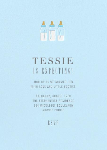 Baby Bottles - Glacier  - Paperless Post - Baby shower