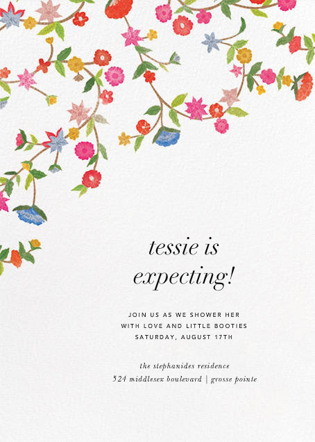 Stitched Floral II - Oscar de la Renta - Baby shower
