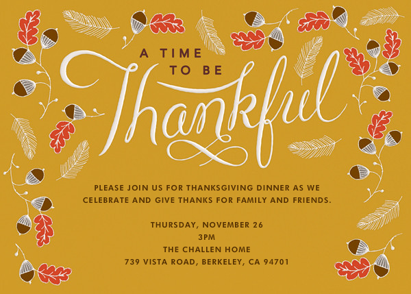 Thankful Times - Crate & Barrel - Thanksgiving