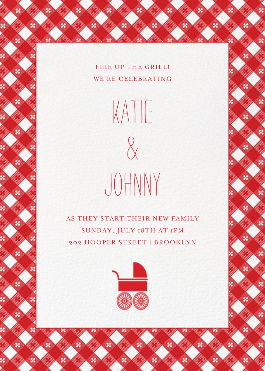 Picnic Table - Paperless Post - Baby shower