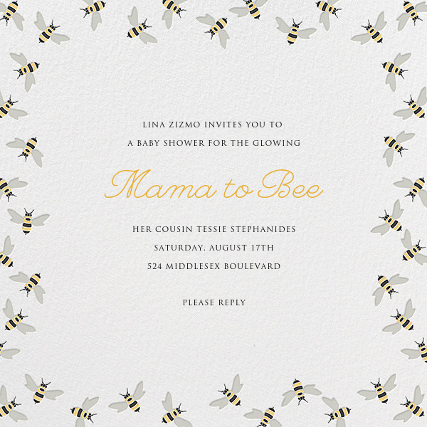 Bumble Bees - Paperless Post - Baby shower